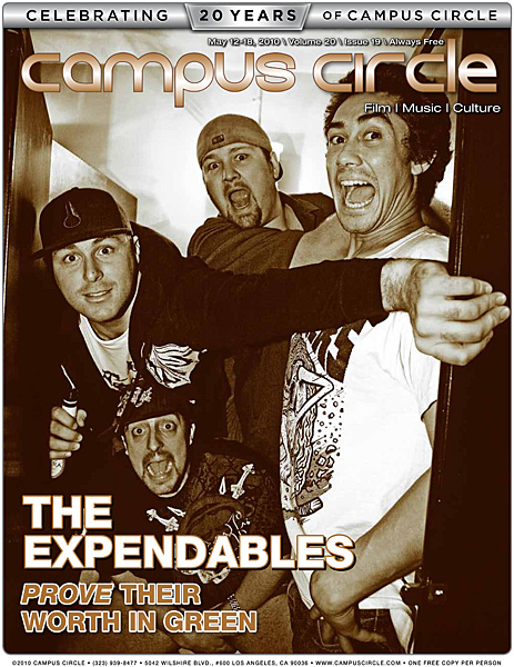 The Expendables Campus Circle magazine cover photo by Bryan Crabtree