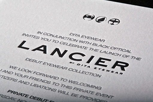 Lancier Release Party Invitation by BC Design